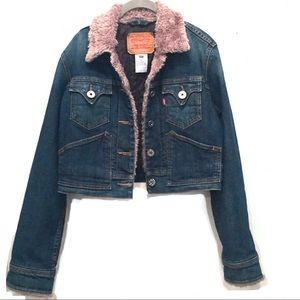 Levi's Rare Vintage 70's Faux Fur Trimmed Jacket M